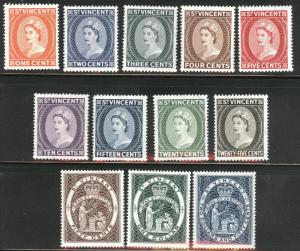St Vincent Scott 186-197 MNH** 1955 QE2 set CV$44