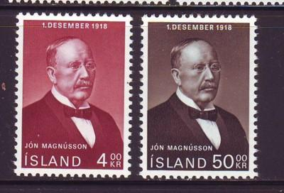 Iceland Sc 402-3 1968 50th anniv Independence stamps mint NH