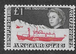 British Antarctic Territory 24 Map single MNH (BB)