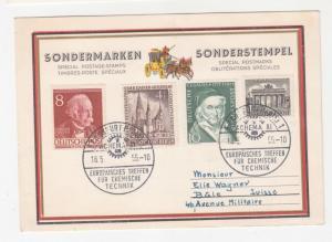 GERMANY, BERLIN, 1955 Frankfurt European Chemical Meeting Commem. Card.