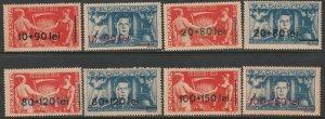 Romania 1946 Sc B318-25 complete set MH