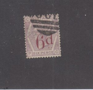 GB # 95 6d on 6d  PLATE 18 CAT VALUE $150