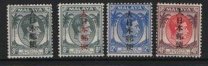 STRAITS SETTLEMENTS, N26-N29, SET (4), MNH, 1943, OCCUPATION STAMPS