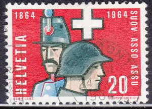 Switzerland 436 USED 1964 Soldiers of 1864 & 1964