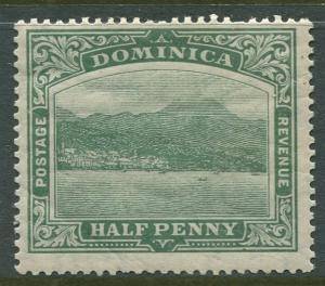 Dominica -Scott 35 - KEVII Definitive Issue -1907 - MLH - Single 1/2p Stamp