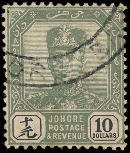 Malaya / Johore Scott 122 Gibbons 125 Used Stamp