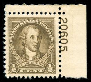 momen: US Stamps #704 Mint OG NH XF-SUP Jumbo