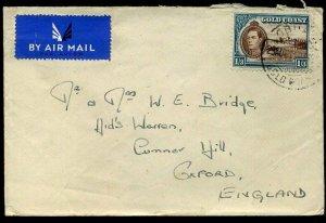 Gold Coast WWII 1943 KGVI SG129 1/ 3d Obuasi to Oxford