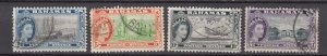 J26648 1954 bahamas hv,s of set used #170-3 queen views