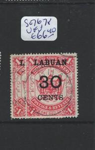 LABUAN  (PP1201B) 10C/$1.00, 30C/$1.00  SG 76, 78  VFU