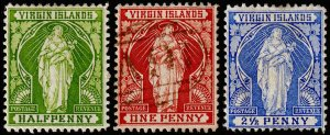 British Virgin Islands Scott 21-23 (1899) Mint/Used H F-VF, CV $19.25 M