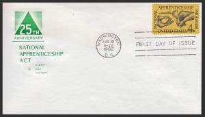 US FDC #1201 M10 4c Apprenticeship - House of Farnam Cachet