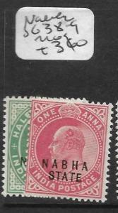 INDIA NABHA (P2509B) KE 1/2A, 1A SG38-9  MOG