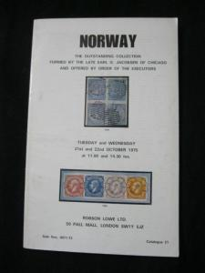 ROBSON LOWE AUCTION CATALOGUE 1975 NORWAY 'JACOBSEN' COLLECTION