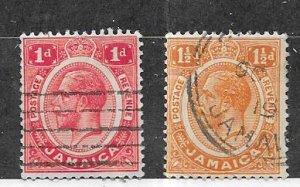 Jamaica #61-62   l (U) CV $1.50