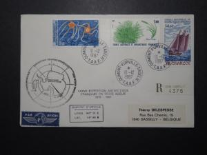 France TAAF 1987 Terre Adelie Mission Cacheted Cover - Z11102