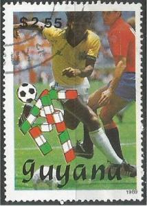 GUIANA, 1989, used $2.55, World Cup Soccer Scott 2221