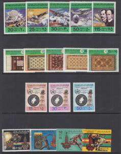 Libya Sc 769//845 MNH. 1978-1979 issues, 4 complete sets, VF