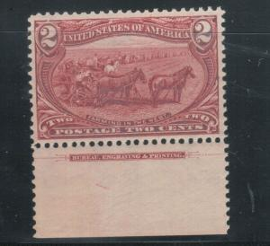 USA #286 Very Fine Never Hinged Imprint Single