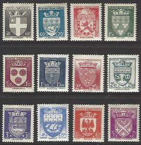 France #B135-B146 Mint Hinged Full Set of 12 cv $42