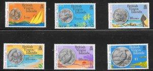 British Virgin Islands  (1973)  - Scott # 254 - 259, MNH