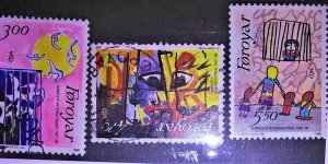collectibles postage stamps of the faroes Islands1986 Amnesty childrens drawin
