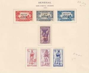 SENEGAL  INTERESTING COLLECTION ON ALBUM PAGES - Y694