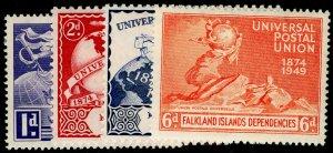 FALKLAND ISLANDS - Dependencies SG G21-G24, COMPLETE SET, VLH MINT.Cat £12.UPU