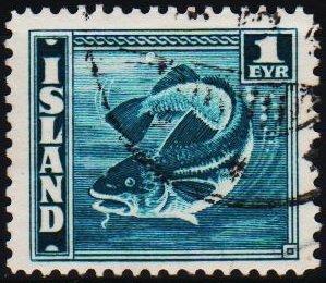 Iceland. 1939 1e  S.G.242a Fine Used
