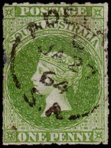 South Australia Scott 10 (1859) Used F, CV $70.00 M