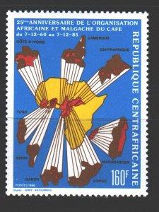 Central African Republic. 1986. 1233. Coffee Maker Organization. MNH.