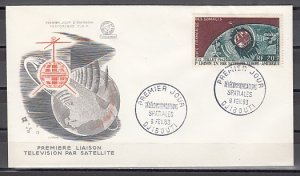 Somali Coast, Scott cat. C31. Telecommunications issue. First Day Cover. ^