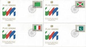 United Nations New York 425-40 FDC 1984 Flag Series Geneva Cachet