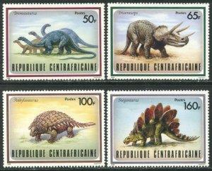 CENTRAL AFRICA Sc#872-879 1988 Dinosaurs Complete Set OG Mint NH