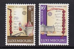 Luxembourg   #672-673   MNH   1982   Europa  treaty of London and Paris