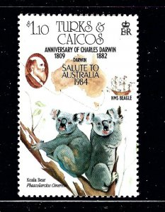 Turks and Caicos Is 643 MNH 1984 Koalas        (P78)