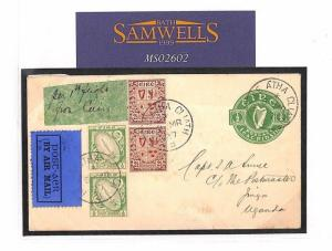 MS2602 1927 Ireland Baile Atha Cliath Postal Stationery Cover PTS