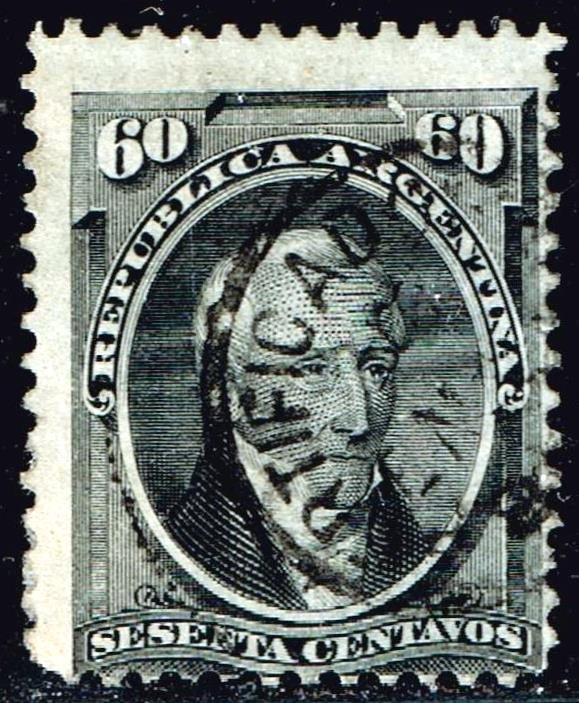 Argentina Stamp 1867 -1874 60C USED STAMP