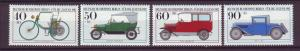 J20763 Jlstamps 1982 berlin germany set mnh #9nb187-90 autos cars