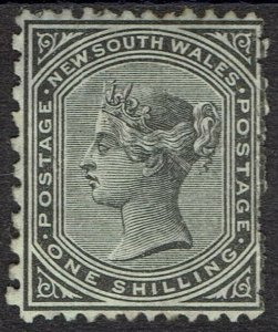 NEW SOUTH WALES 1871 QV 1/- WMK CROWN/NSW SG W36 PERF 13 X 10