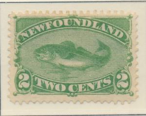 Newfoundland (Canada) Stamp Scott #47, Mint Hinged, Half Original Gum - Free ...