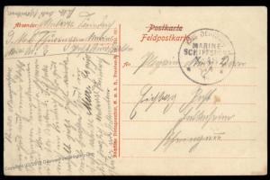 Germany 1915 WWI Navy SMS Thueringen MSP48 Feldpost Cover Marineschiffspos 88255