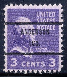 Anderson IN, 807-71 Bureau Precancel, 3¢ Jefferson