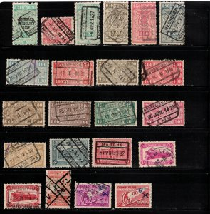 BELGIUM Collection Of Used Railroad Stamps Some Minor Faults Good Value