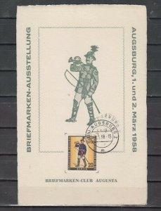 Germany, Scott cat. 9nb160. Postilion issue on a Souvenir Card. *