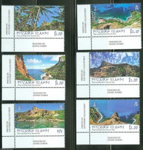 PITCAIRN ISLAND 2013 TOURISM SET OF SIX MINT NH