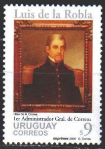 Uruguay. 2000. 2555. Roble, founder of the post office of Uruguay. MNH.