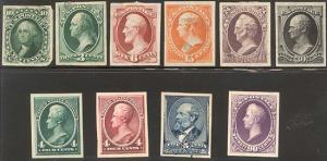 PROOF COLLECTION - 16 DIFF INC 62B, 73aP4 - VF-XF!