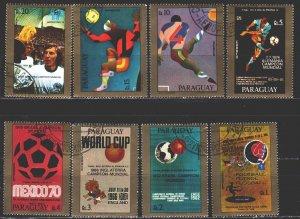Paraguay. 1977. 2983-909. Argentina-78, football. USED.