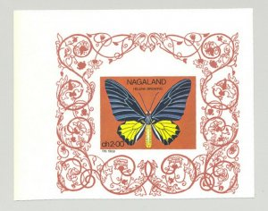 Nagaland (Propaganda) 1969 Butterflies 1v S/S Wide Margin Proof